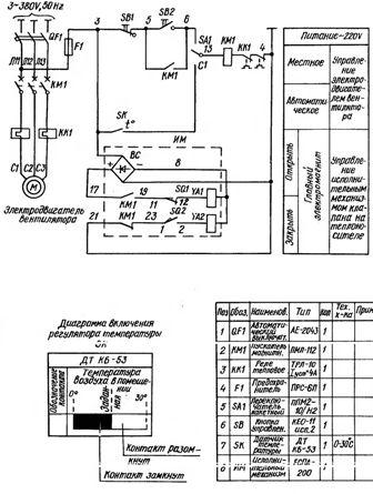 Пример схема электрики