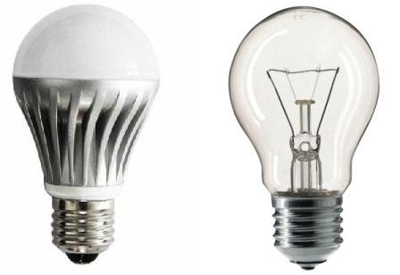Лампа накаливания и ее аналог