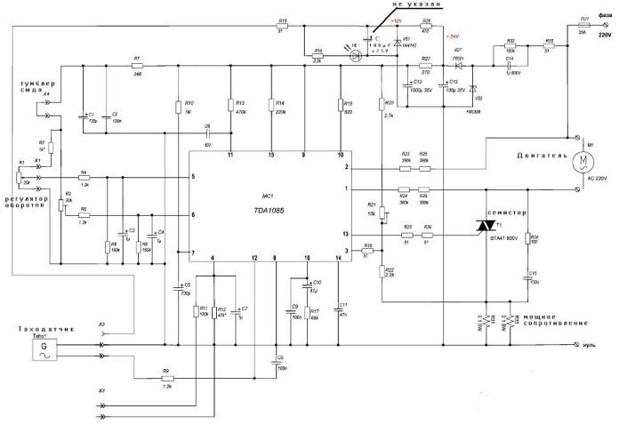 Подключение конденсатора к двигателю от стиральной машины